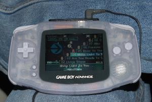 Nintendo MP3 Player sur une GameBoy Advance