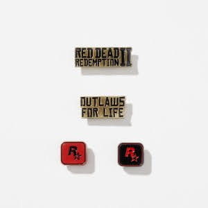 Ensemble de pin's Red Dead Redemption II (warehouse 01)