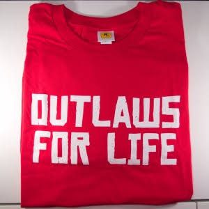 T-shirt Outlaws For Life (01)