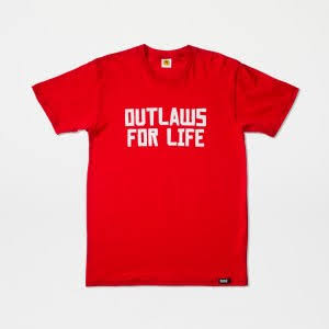 T-shirt Outlaws For Life (warehouse 01)