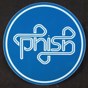 Phish Puck Sticker Blue