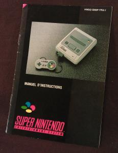 Super Nintendo Manuel d'instructions HW(A)-SNSP-FRA-1