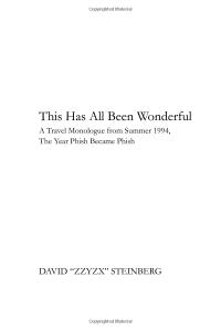 This Has All Been Wonderful (cover 2)