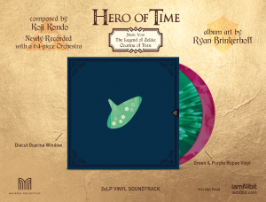 Hero of Time 2xLP (Music from The Legend of Zelda- Ocarina of Time) (cover 2)