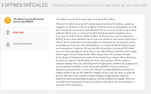 Nintendo Switch (offre fnac bisous 1)